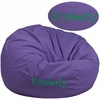 Personalized Oversized Solid Purple Bean Bag Chair [DG-BEAN-LARGE-SOLID-PUR-EMB-GG]