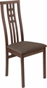 Phillips Walnut Finish Wood Dining Chair with Triple Window Pane Back and Golden Honey Brown Fabric Seat [ES-CB-2481YBH-W-GH-GG]