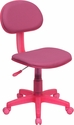 Pink Fabric Swivel Task Chair [BT-698-PINK-GG]