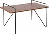 Porter Collection Cherry Wood Grain Finish Coffee Table with Black Metal Legs [NAN-JH-1792CT-GG]
