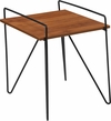 Porter Collection Cherry Wood Grain Finish Side Table with Black Metal Legs [NAN-JH-1792ST-GG]