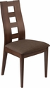 Preston Espresso Finish Wood Dining Chair with Window Pane Back and Golden Honey Brown Fabric Seat [ES-CB-3904YBH-E-BG-GG]