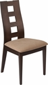 Preston Walnut Wood Dining Chair with Window Pane Back and Brown Fabric Seat [ES-CB-3904YBH-W-BGE-GG]