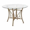 Princeton 42'' Round Glass Dining Table with Matte Gold Metal Frame [XU-TBG-15-GG]