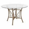 Princeton 45'' Round Glass Dining Table with Matte Gold Metal Frame [XU-TBG-14-GG]