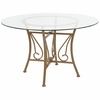 Princeton 48'' Round Glass Dining Table with Matte Gold Metal Frame [XU-TBG-13-GG]
