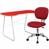 Red Computer Desk and Mesh Chair [NAN-16-GG]