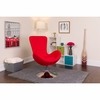 Egg Series Red Fabric Side Reception Chair [CH-162430-RED-FAB-GG]