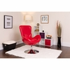 Egg Series Red Leather Side Reception Chair [CH-162430-RED-LEA-GG]