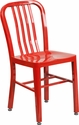 Red Metal Indoor-Outdoor Chair [CH-61200-18-RED-GG]