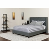 Riverdale Queen Size Tufted Upholstered Platform Bed in Dark Gray Fabric [HG-47-GG]