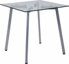 Roxbury Collection Glass End Table with Silver Metal Legs [NAN-JH-1721ET-GG]