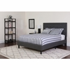Roxbury Tufted Upholstered Twin Size Platform Bed in Dark Gray Fabric [SL-BK5-T-DG-GG]