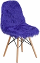 Shaggy Dog Dark Blue Accent Chair [DL-9-GG]