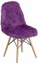 Shaggy Dog Purple Accent Chair [DL-15-GG]