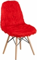 Shaggy Dog Red Accent Chair [DL-4-GG]