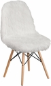 Shaggy Dog White Accent Chair [DL-10-GG]