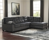Signature Design by Ashley Accrington 2-Piece LAF Sofa Sectional in Granite Microfiber [FSD-1339SEC-2LAFS-GRT-GG]