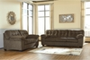 Signature Design by Ashley Accrington Living Room Set in Earth Microfiber [FSD-1339SET-ERT-GG]