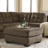 Signature Design by Ashley Accrington Oversized Accent Ottoman in Earth Microfiber [FSD-1339OTT-ERT-GG]