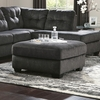 Signature Design by Ashley Accrington Oversized Accent Ottoman in Granite Microfiber [FSD-1339OTT-GRT-GG]