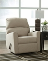 Signature Design by Ashley Alenya Rocker Recliner in Quartz Microfiber [FSD-1669REC-QTZ-GG]
