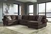 Signature Design by Ashley Jinllingsly 3-Piece LAF Sofa Sectional in Chocolate Corduroy [FSD-1949SEC-3LAFS-CHO-GG]