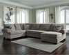 Signature Design by Ashley Jinllingsly 3-Piece LAF Sofa Sectional in Gray Corduroy [FSD-1949SEC-3LAFS-GRY-GG]
