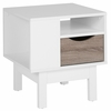St. Claire Collection End Table in White Finish [EV-ST-2847-01-W-GG]