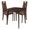 Stonington 3 Piece Walnut Wood Dining Table Set with Curved Slat Wood Dining Chairs - Padded Seats [ES-80-GG]