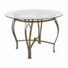 Syracuse 42'' Round Glass Dining Table with Matte Gold Metal Frame [XU-TBG-9-GG]