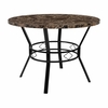 "Tremont 42"" Round Dining Table in Espresso Marble-Like Finish [HS-D03003TR-M004-42-GG]"