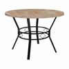 "Tremont 42"" Round Dining Table in Quartz Marble-Like Finish [HS-D03003TR-580-42-GG]"