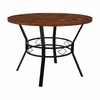 "Tremont 42"" Round Dining Table in Swirled Chocolate Marble-Like Finish [HS-D03003TR-440-1-42-GG]"