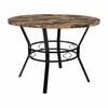 "Tremont 42"" Round Dining Table in Swirled Marble-Like Finish [HS-D03003TR-M001-42-GG]"