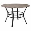 "Tremont 45"" Round Dining Table in Distressed Gray Wood Finish [HS-D03003TR-21380-02-45-GG]"