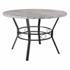 "Tremont 45"" Round Dining Table in Distressed Slate Finish  [HS-D03003TR-5123-02-45-GG]"