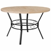 "Tremont 47"" Round Dining Table in Bleached Sandstone-Like Finish [HS-D03003TR-M005-47-GG]"