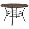 "Tremont 47"" Round Dining Table in Espresso Marble-Like Finish [HS-D03003TR-M004-47-GG]"