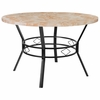 "Tremont 47"" Round Dining Table in Quartz Marble-Like Finish [HS-D03003TR-580-47-GG]"