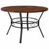 "Tremont 47"" Round Dining Table in Swirled Chocolate Marble-Like Finish [HS-D03003TR-440-1-47-GG]"
