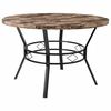 "Tremont 47"" Round Dining Table in Swirled Marble-Like Finish [HS-D03003TR-M001-47-GG]"