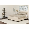 Tribeca Full Size Tufted Upholstered Platform Bed in Beige Fabric [HG-18-GG]