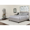 Tribeca Full Size Tufted Upholstered Platform Bed in Light Gray Fabric with Pocket Spring Mattress [HG-BM-26-GG]