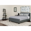 Tribeca Queen Size Tufted Upholstered Platform Bed in Dark Gray Fabric [HG-31-GG]