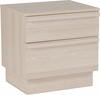 Valencia Collection 2 Drawer Nightstand in Cambria Ash Finish [EV-ST-4747-01-GG]
