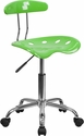 Vibrant Apple Green and Chrome Swivel Task Chair with Tractor Seat [LF-214-APPLEGREEN-GG]