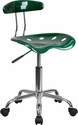 Vibrant Green and Chrome Swivel Task Chair with Tractor Seat [LF-214-GREEN-GG]