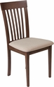 Wellington Walnut Finish Wood Dining Chair with Rail Back and Beige Fabric Seat [ES-CB-3950YBH0-W-2BGE-GG]