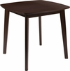 Whitman 31.5'' Square Espresso Finish Wood Dining Table with Clean Lines and Braced Legs [ES-CB-6805BBH-E-GG]